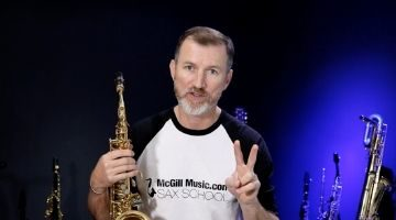 Nigel McGill sharing his favourite things about sax