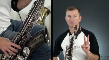 technique in playing sax