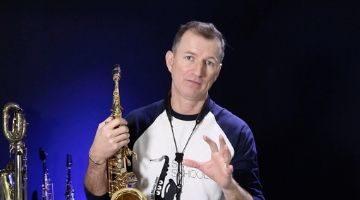 ii V I improvising skills and licks workout for Saxophone
