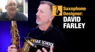 Nigel McGill from Sax School interviews Trevor James saxophone designer David Farley