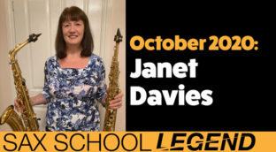 Playing saxophone in a band inspires our Sax School legend Janet.