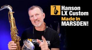Nigel McGill from Sax School tests the Hanson Custom LX tenor saxophone