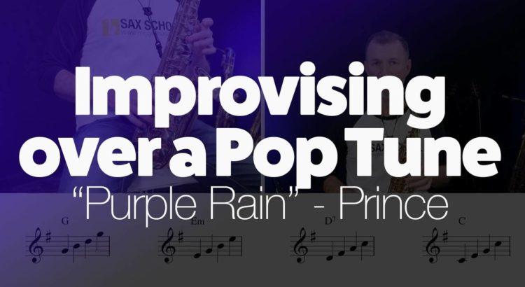 Improvising over a pop tune Purple Rain by Prince