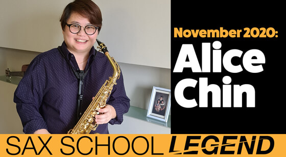 Alice makes great progress on saxophone with daily sax practice