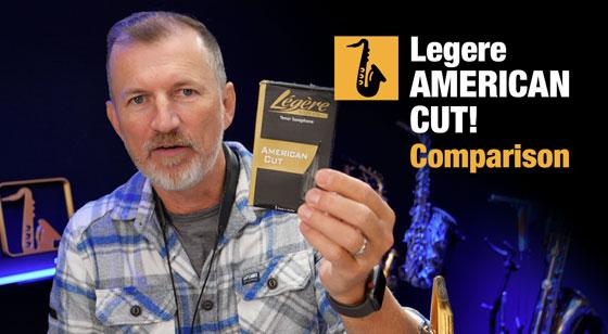 Nigel McGill of Sax School tests Legere American Cut synthetic saxophone reeds
