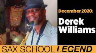 Derek learns commercial saxophone with Sax School