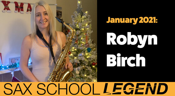 Legend Robyn's return to playing saxophone with Sax School