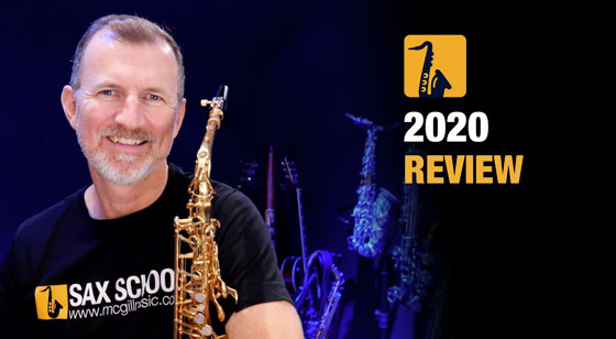 We look back at this year of saxophone lessons in 2020 from Sax School.