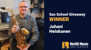 Meet Juhani Sax School membership winner