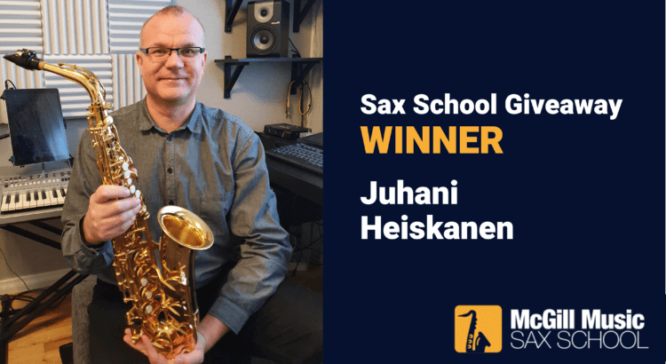 Meet Juhani Sax School membership winner