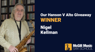 Nigel wins our Hanson V alto saxophone giveaway