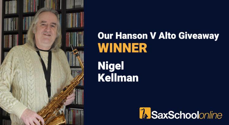 Hanson V Alto Giveaway Winner Nigel Kellman