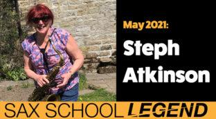 Sax School legend Steph Atkinson
