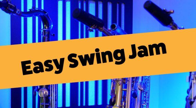 Easy swing jam session lesson for beginner saxophone players