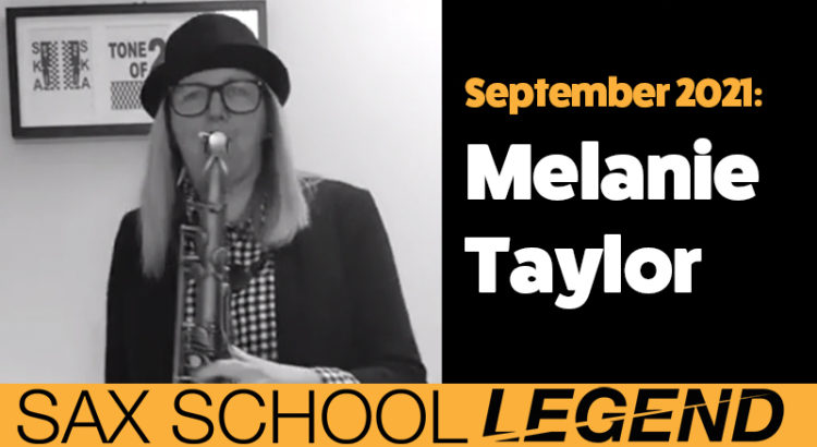 Melanie plays ska saxophone in a band after growing her confidence with Sax School