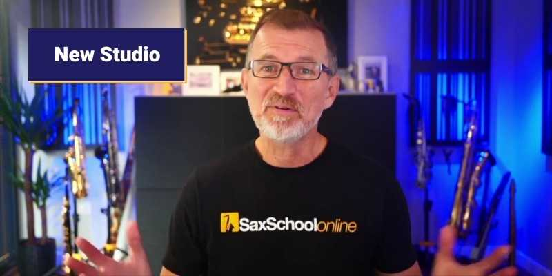 my new studio saxschool online