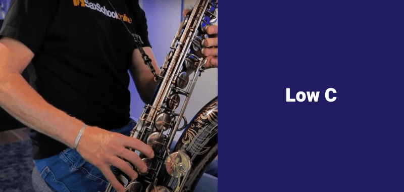 how to play b flat on saxophone alternative fingerings low c