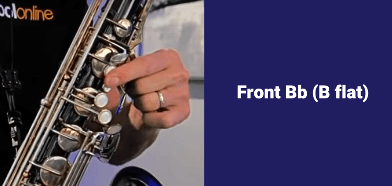 how to play B flat on saxophone front b flat