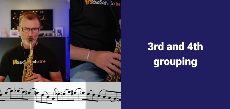 faster fingers in saxophone 3rd and 4th note grouping