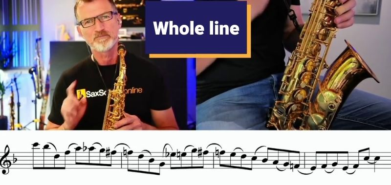 faster fingers on saxophone whole line