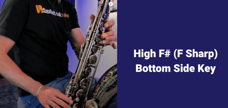 How to play B flat on saxophone alternative fingering F sharp