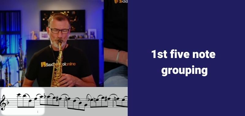 first 5 note grouping faster fingers on saxophone