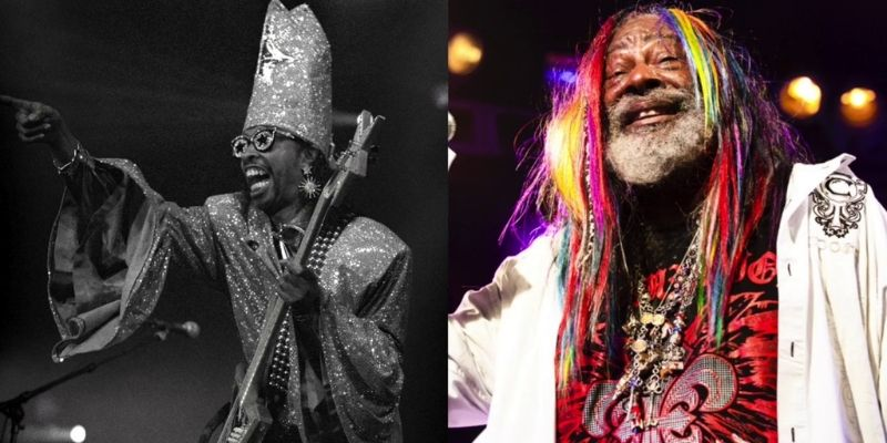 Maceo Parker played saxophone with Bootsy Collins